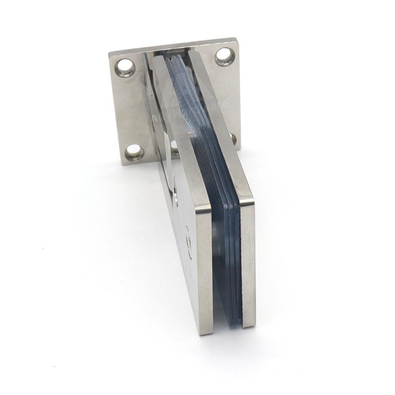 Bathroom stainless steel 90 degree glass clamp hinge for frameless shower glass door