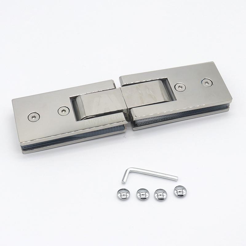 Frameless shower door 180 degree ss304 stainless steel glass bathroom door pivot hinge