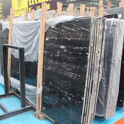 Silver Black Slab Vanity Wall Floor Panel Tile