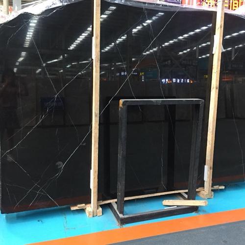 China Nero Marquina Slab Vanity Wall Floor Panel Tile