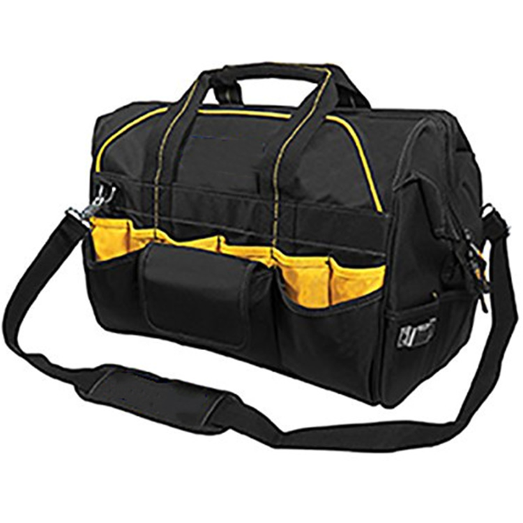 40 Pocket 18 Inch Pro Contractor'S Closed Top Tool Bag