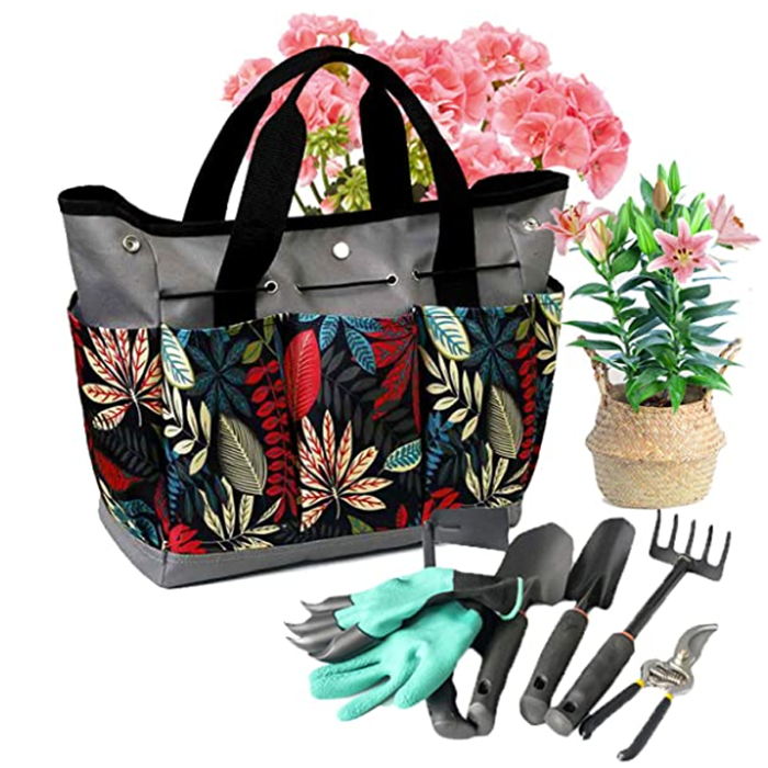 Garden Tote Portable Gardening Organizer With 8 Pockets Garden Tools