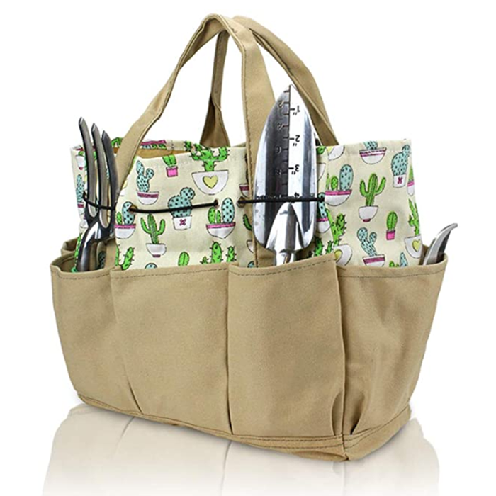 Garden Tools Bag - Gardening Storage Tote with Pockets for Women/Men's Garden Work, Good Ox-Ford Organizer Keep
