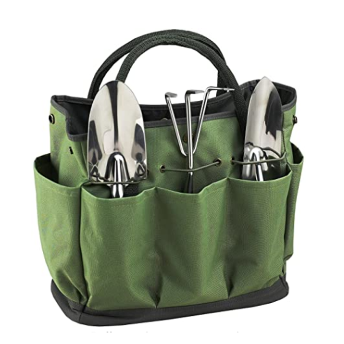 Gardening Tote Bag Tool Kit Holder Bag Compact Storage Bag Tote Organizer Yard Plant Tool Carrier Bag Pouches