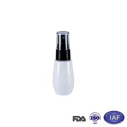 50ml white oval refillable bottle