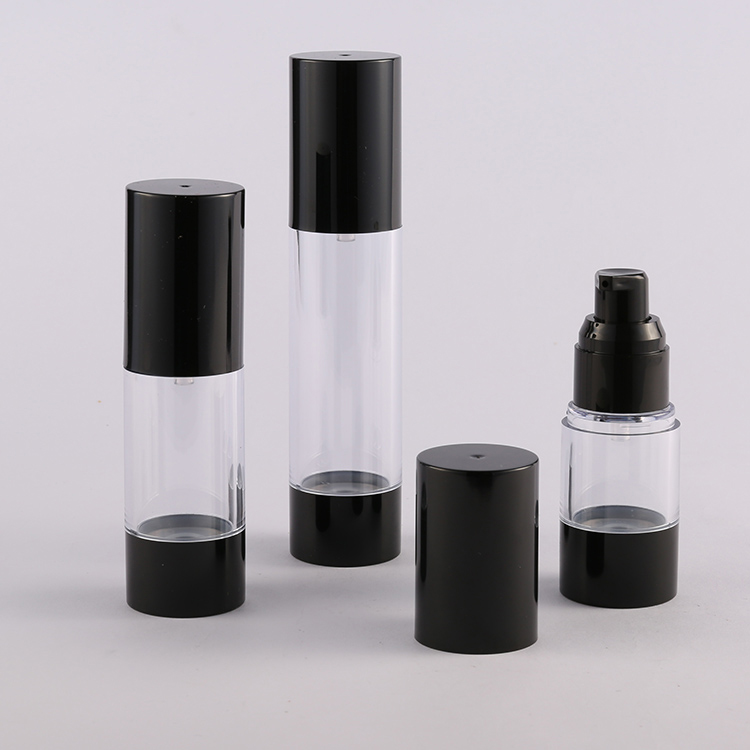 Empty Plastic Airless Pump Serum Container 0.5oz 1oz 1.7oz Supplier ZA27A airless container packaging
