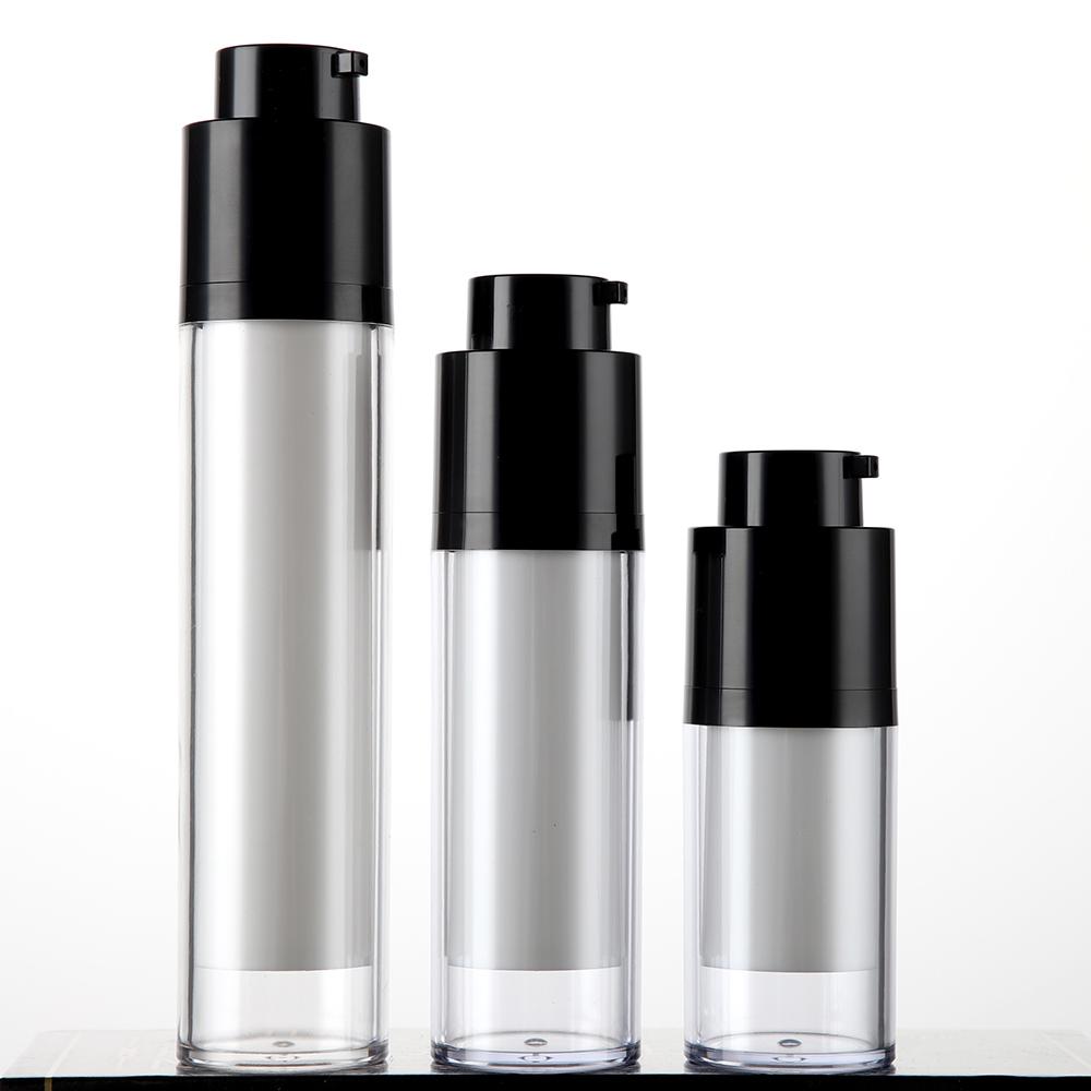 Plastic Round Rotary Lock Dispenser Airless Pump Serum Bottle ZA20 airless packaging manufacturer