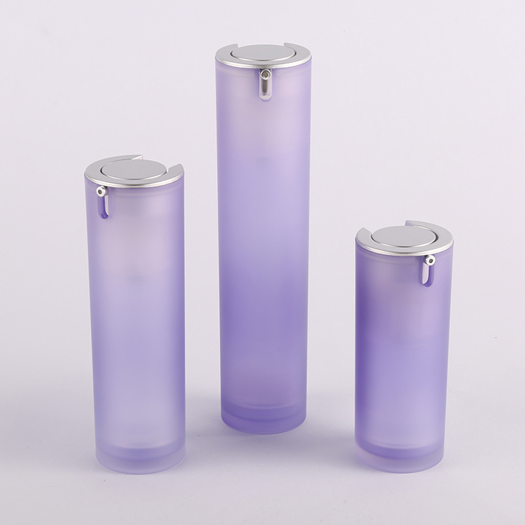 Round Acrylic Airless Pressed Pump Serum Bottle Manufacturer ZA21-15ml 30ml 50ml airless containers