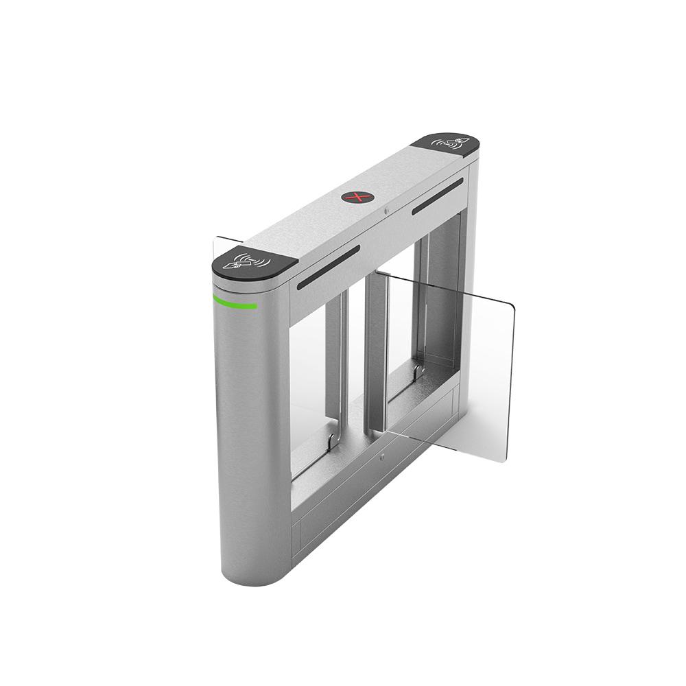 304 Stainless Steel Rfid Card Reader & Fingerprint Reader Access Control System Swing Barrier Gate