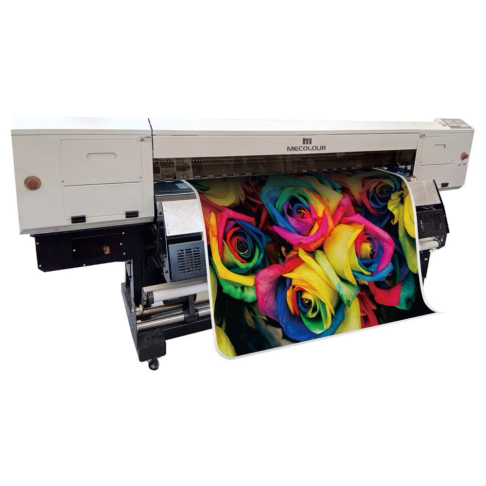 ME-1800FHT 1.8m four DX5 print head sublimation printer for sublimation printing.sublimation printer ME-1800FHT With double Epson DX5 print heads of parallelogram layout,