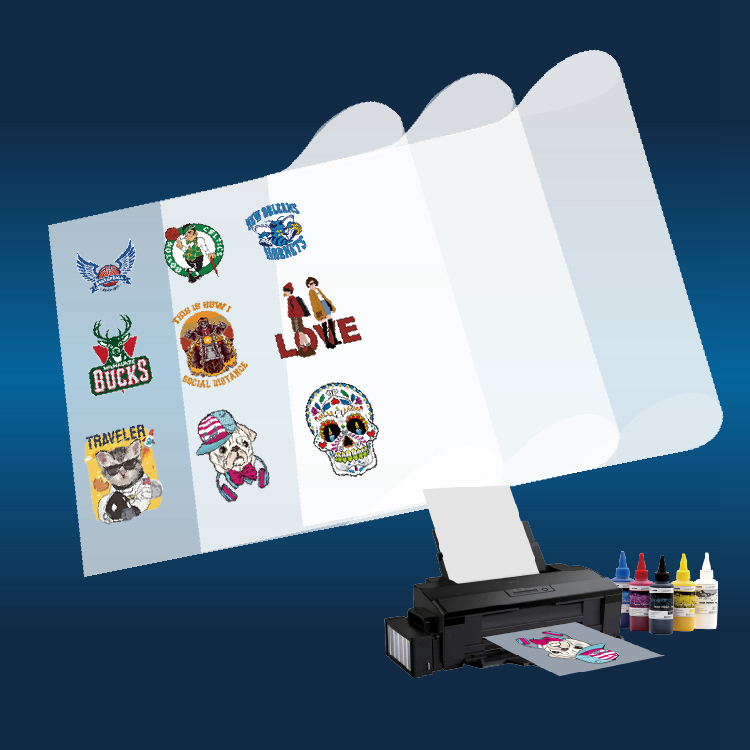 DTF is a revolutionary new printing technique that's more affordable and accessible compared to DTG, screen printing, sublimation or laser white toner transfers.