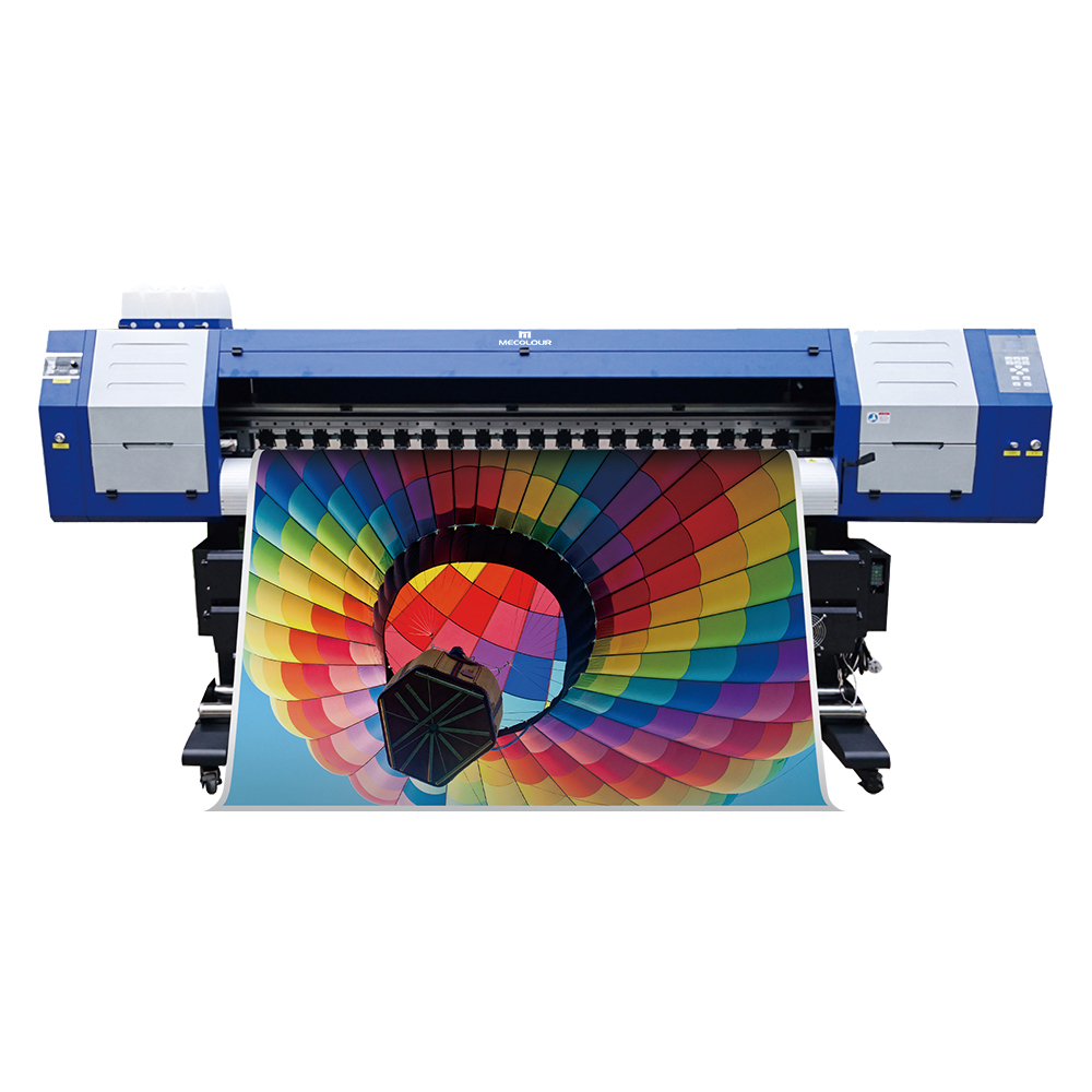 ME- 1800DHT 1.8m 1440dpi Dual DX5 print head sublimation printer for reliable transfers of rich and saturated colors with exceptional print quality, all at an affordable price.