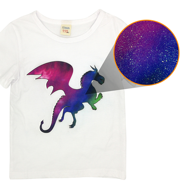 Vision add this specialty transfer paper to our product line-inkjet glitter dark transfer paper.