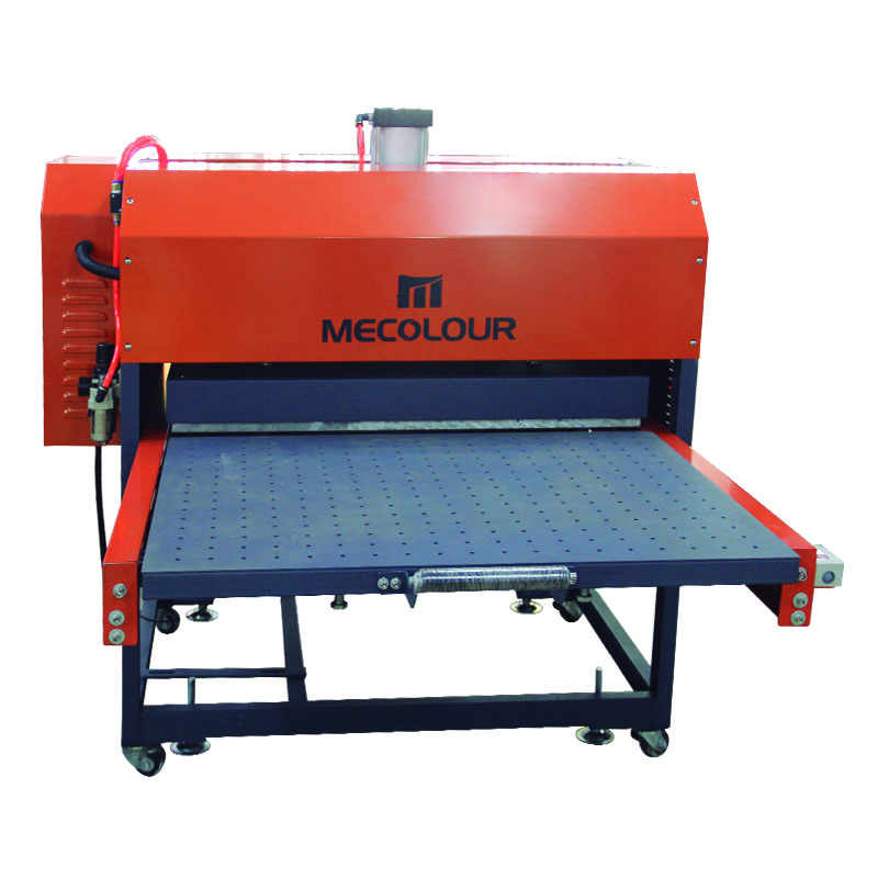 The high pressure Semi-automatic pneumatic double stations heat press machine also includes a double pneumatic pump pressure system that delicately opens and closes the press plates to prevent paper floating