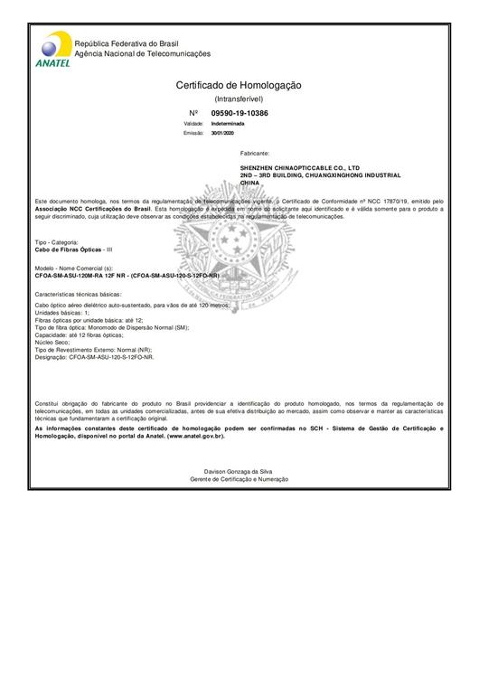 Certificado_Homologacao ASU