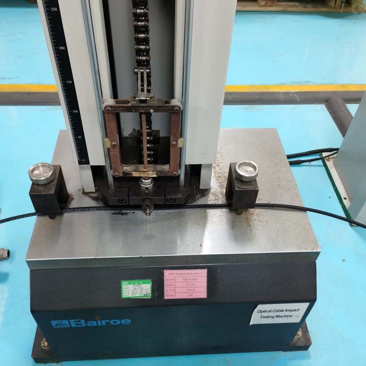 Cable impact testing machine