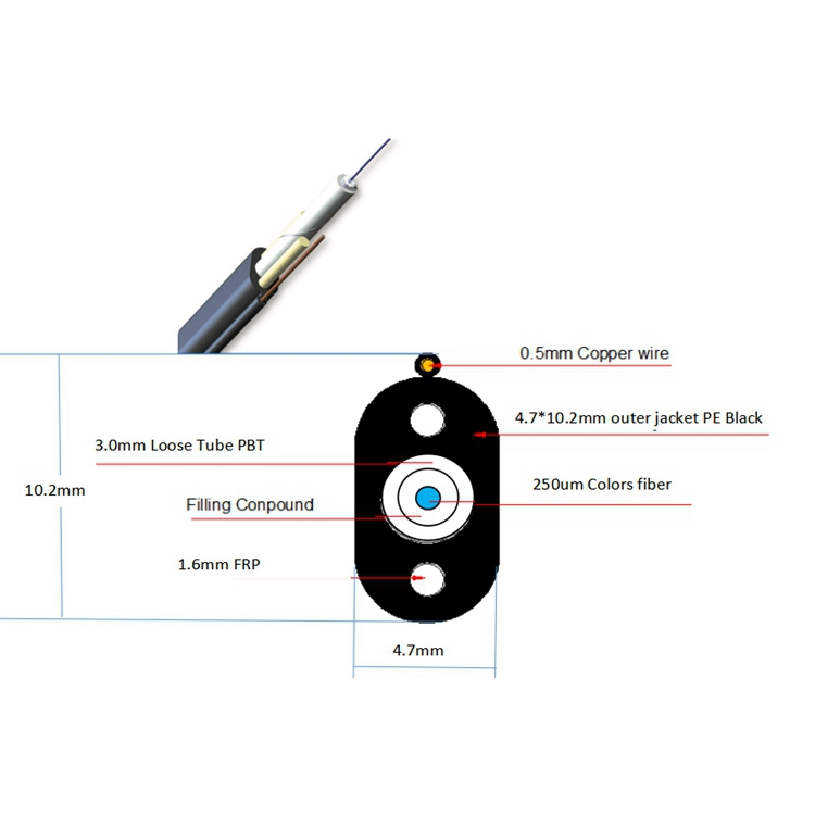 Photoelectic Composite Fiber Optic Cable ,  Can Make It According To Customer's Requriement,Good Quality And Best Price Communication Cable