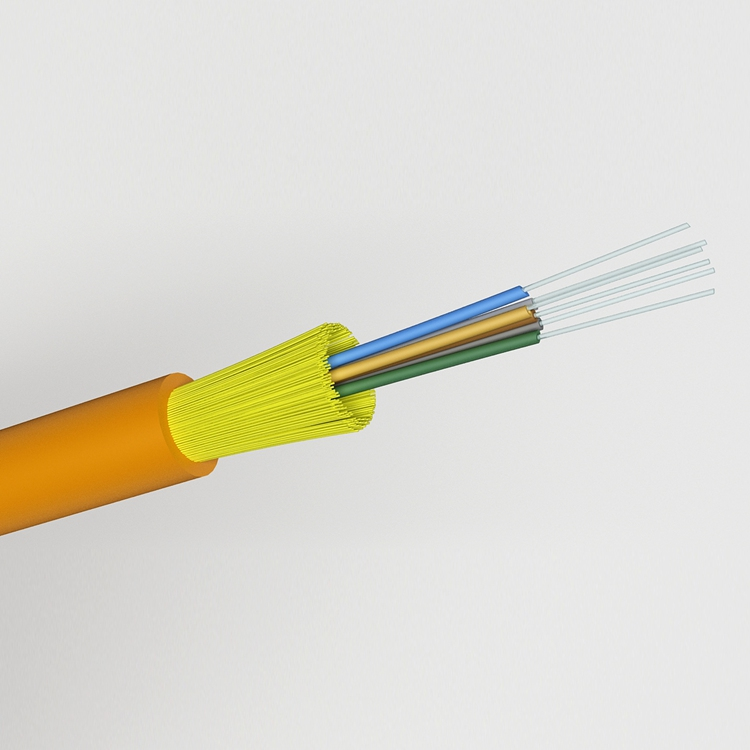 SM MM Indoor  2core  LSZH PVC Aramid Fiber Tight Buffer Cable With FRP Strength Member