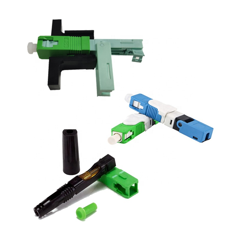 FTTH Optical Fiber Fast Connector Single Mode Fiber Optic SC Quick Connector APC UPC Optic Fiber Connector