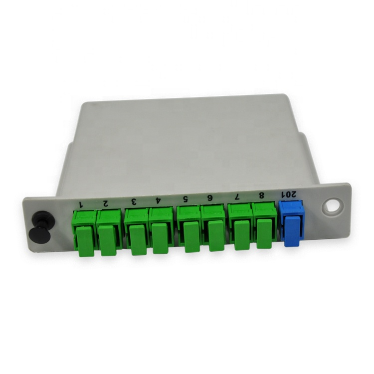Gpon Epon Fiber SC/APC Connector Fiber Optical 1x8 PLC Splitter