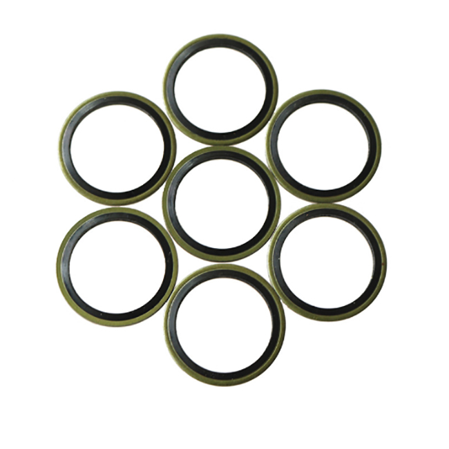 Metal with nbr rubber gasket/bonded sealing washer/factory produce piston metal compound rubber ring