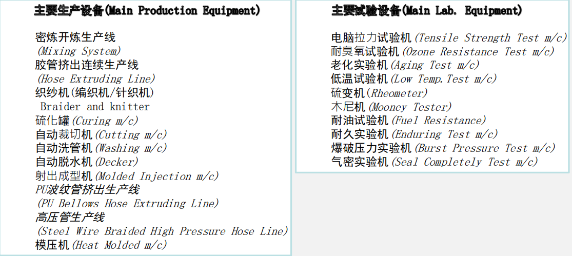 Equipment of Loongrubber Technology