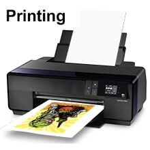 Step 1   ● Print the the image on front side of heat transfer paper (the smooth and soft side is the front side);   ● After printing, allow the paper to dry.
