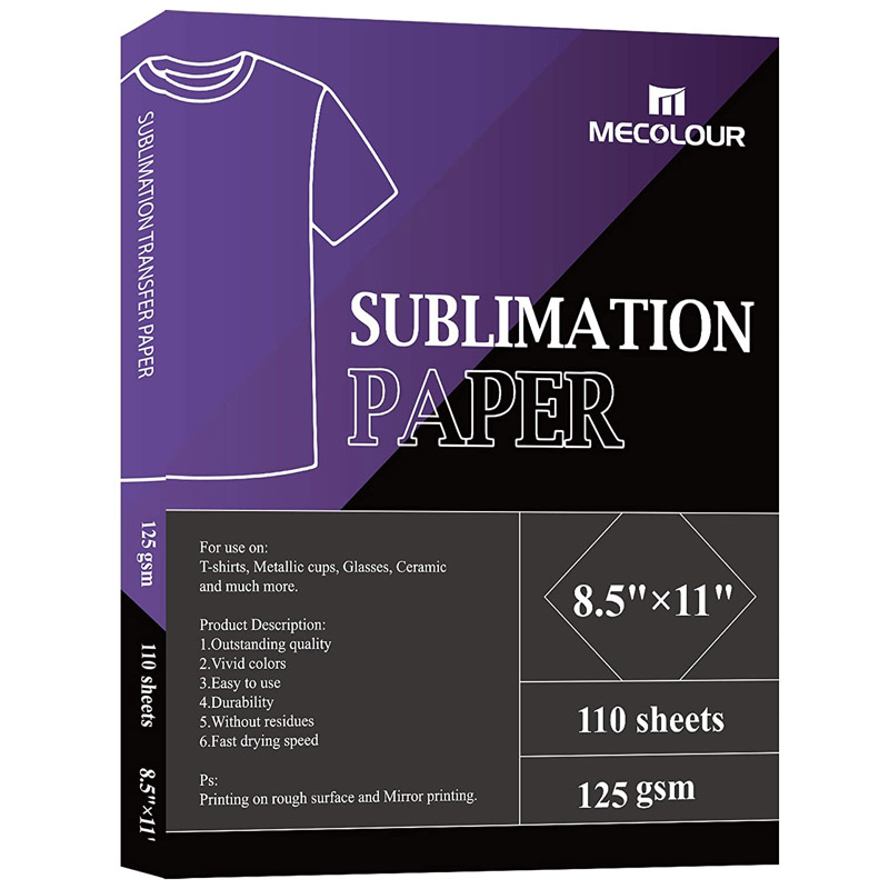 MECOLOUR Sublimation Paper 8.5x11 Inch A4 110 Sheets For Any Inkjet Printer With Sublimation Ink