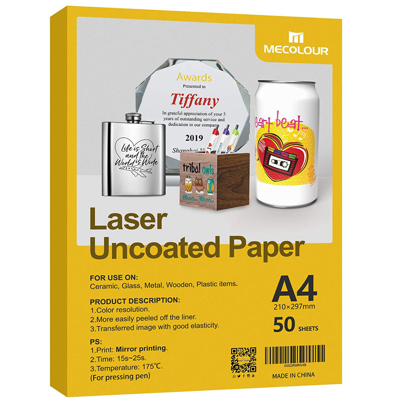 MECOLOUR Laser Uncoated Transfer Papers For Pen Printed With Laser Printer Like OKI