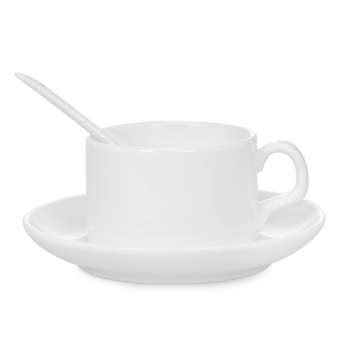 4oz Tea Cup With Spoon For Sublimation