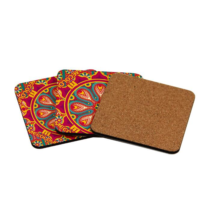 4mm Thickness  95x95mm Sublimation Blanks Mdf Coaster