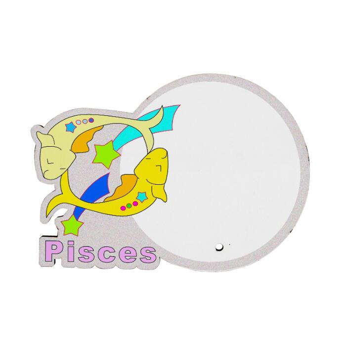 MDF wood Photo Frame - Pisces Zodiac Sign