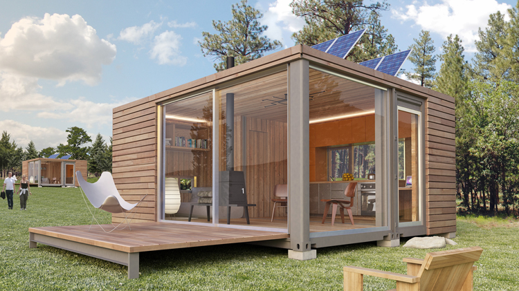 An architectural designer's view on flat pack shipping container house