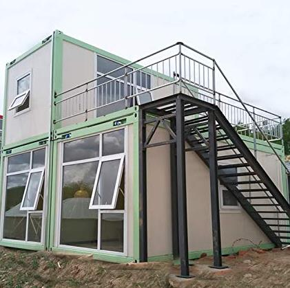 Prefab Modern Container Villa Home With Big Glass Wall