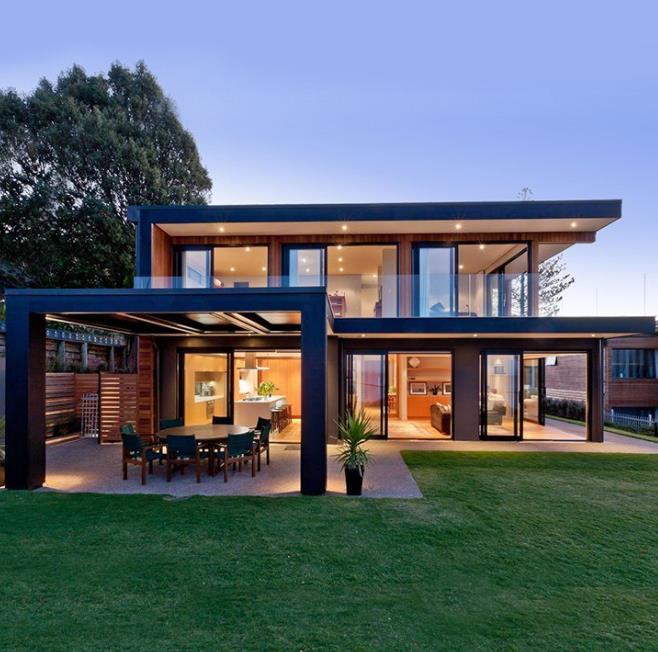 Small Prefab Steel Frame Garden Villa House In Chile