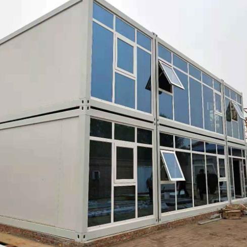 Two Floors Prefabricated Steel Structure Container Apartment Hotel Building