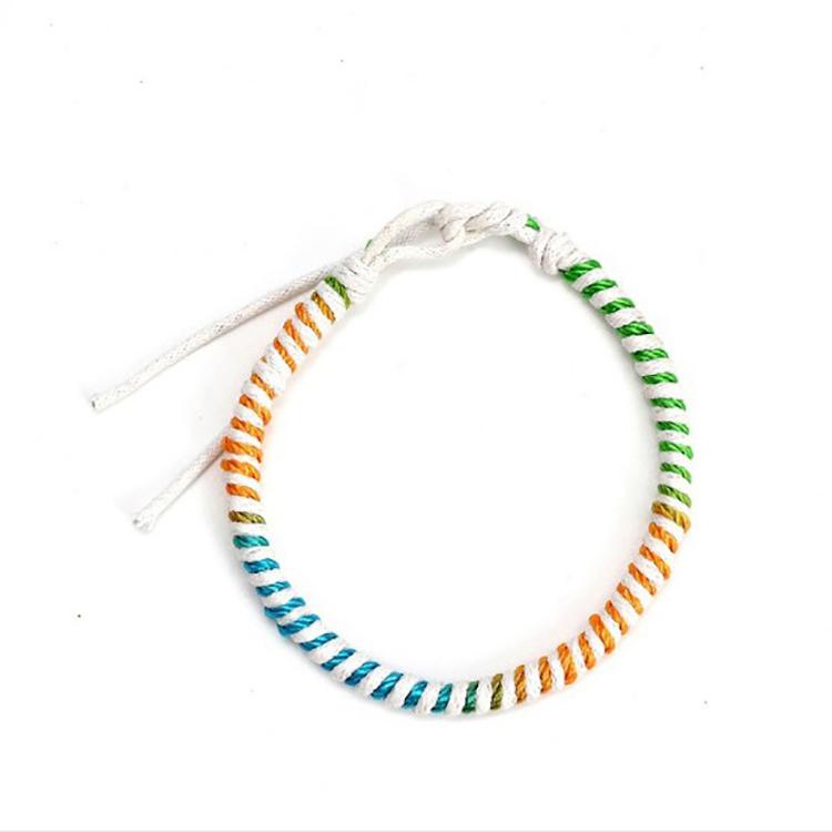Colorful Bohemian Style Bracelet Hand Woven Thread Bracelet