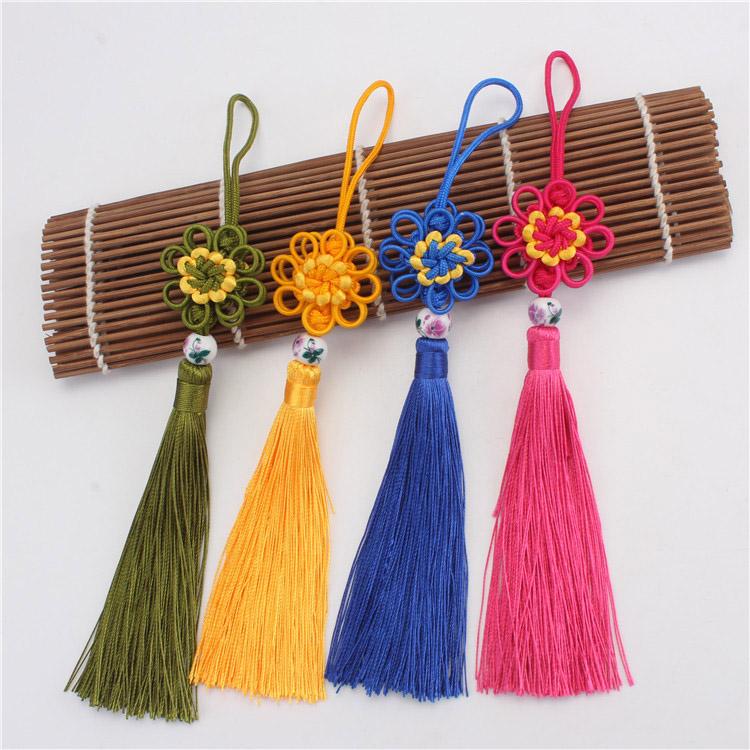 Wholesale Handwoven Nylon Sunflowers Knot Tassel
