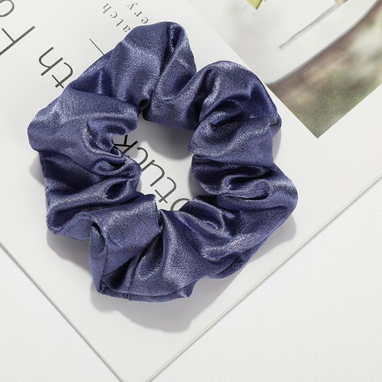 Custom Eco Friendly Korea Style Hairband Colorful Elastic Satin Hair Accessories Ties Scrunchy Hair Band For Small Girls