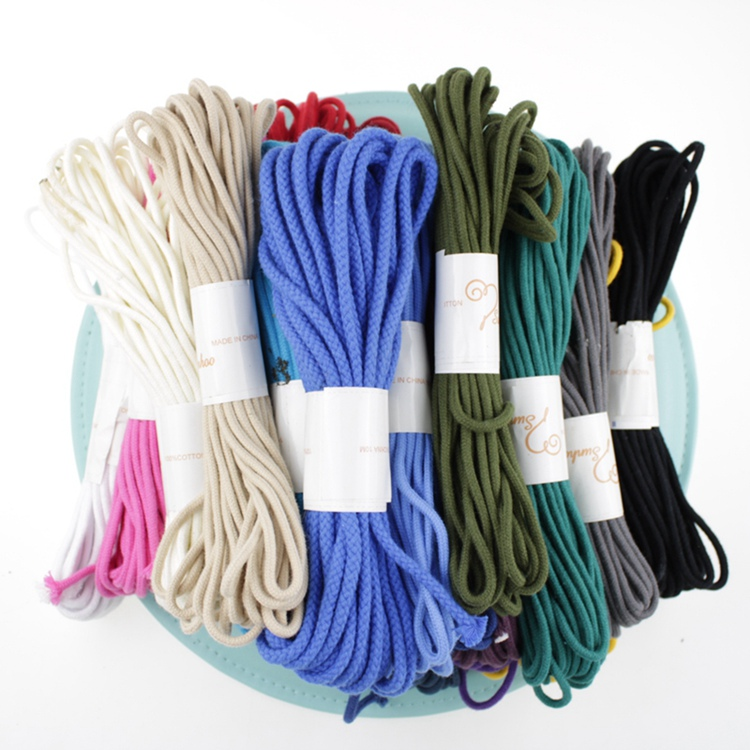 Wholes Sale 4mm Macrame Braided Cord Cotton Rope