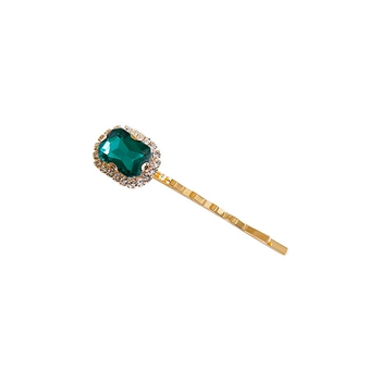Hot Sell Green Diamond Beaded Luxury Hair Pins Fashion Personal Wear Hair Clips For Women