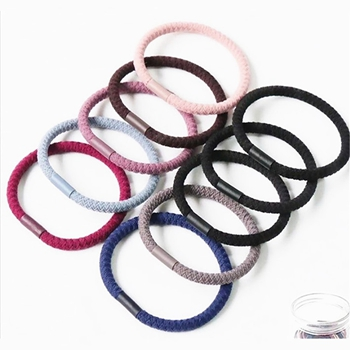 2020 Fashion Quality Plain Elastic Hair Tie Bracelet Multi Color Ladies Hair Bands With Buckle