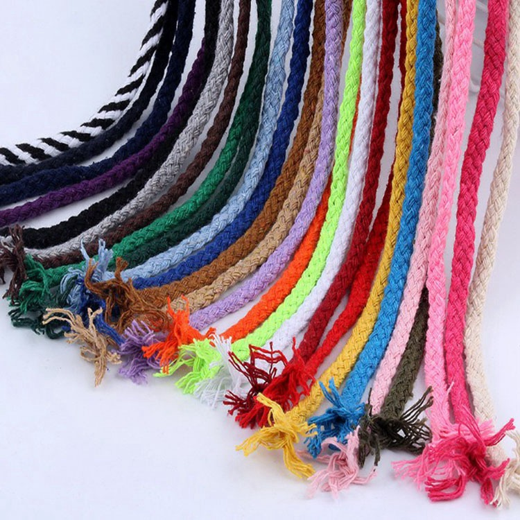 Factory Wholesale High Quality 5mm Braided Cotton Rope