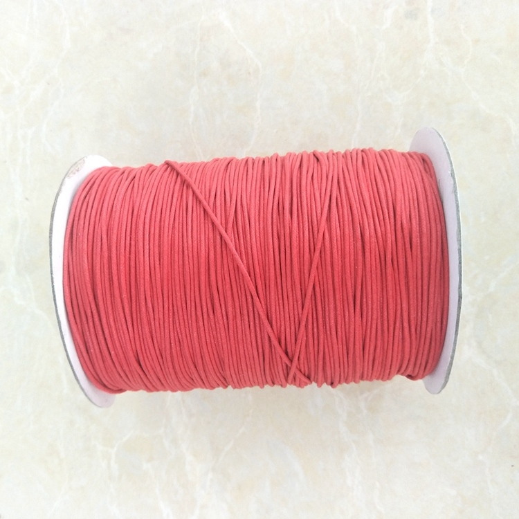 1mm 2mm Waxed Cotton Cord Macrame Cord Cotton Rope