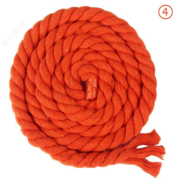 8mm Cotton Rope Thick 3-strands Twisted Colored Cotton Cord