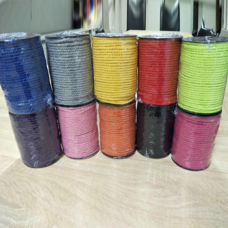 Eco Friendly Decorative Macrame Cotton Cord 5mm, Twisted Cord