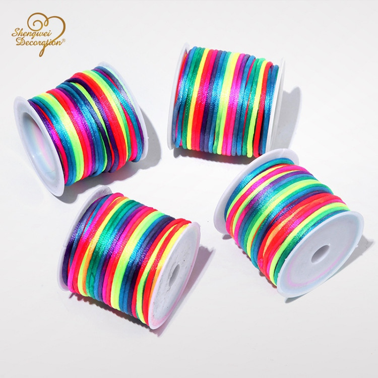 4mm 10m/roll Colorful Nylon Korean Type Braided Rope Garment Accessories Cords