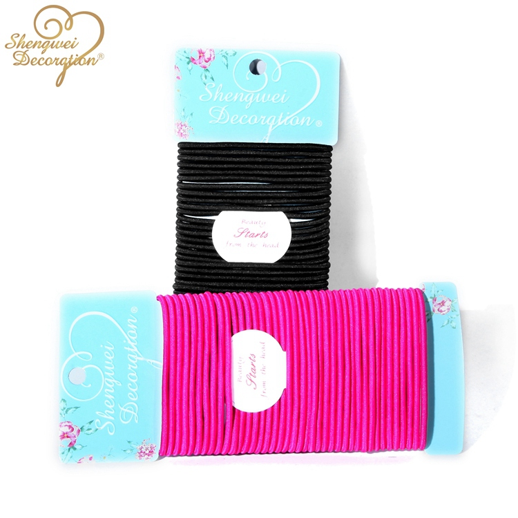 Elastic Hair Band And Elastic Cord With Metal Clips