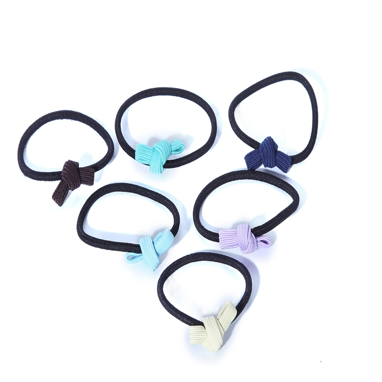Multiple Color Handmade Hair Accessories Hot Cute Elastic Hair Ties Bracelet Hair Band With Small Bow For Girls