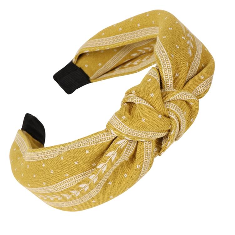 High Quality Luxury Headband Wholesale Hair Accessories Fabric Tie Baroque Headband Thick Headbands For Women 2020